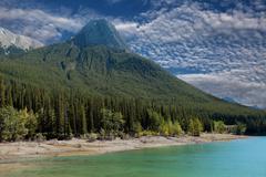 maligne lake Jasper, Alberta - stock photo
