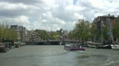 Amsterdam canal view (timelapse) Stock Footage