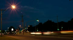 Traffic Lights Time Lapse at Night Stock Footage
