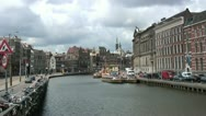 Stock Video Footage of Amsterdam canal view (timelapse)