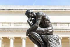 Rodin thinker statue Stock Photos