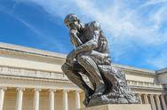 Stock Photo of rodin thinker statue