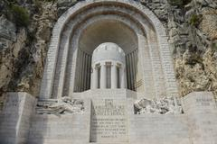 Monument aux morts war memorial in nice france Stock Photos