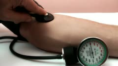 blood pressure tonometer - stock footage