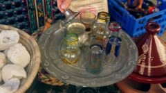 Street Market in Morocco Stock Footage