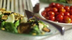Beautiful dishes of food 2 Stock Footage