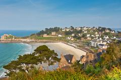 Perros-guirec, small town in western brittany, france Stock Photos