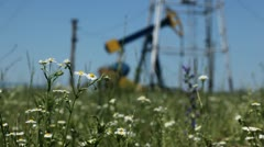 HD Fossil Fuel Energy, Oil Pump, Pumpjack, Old Pumping Unit, Jack Pump, Donkey - stock footage