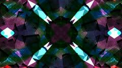 Colorful Geometric Kaleidoscope Effect Stock Footage