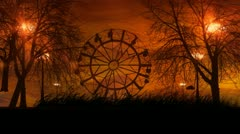 Spooky Ferris Wheel Stock Footage