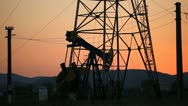 Stock Video Footage of HD Sunset, Sunrise Fossil Fuel Energy, Oil Pump, Pumpjack, Old Pumping Unit