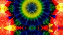 Psychedelic Tie Dye Kaleidoscope Stock Footage