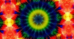 Psychedelic Tie Dye Kaleidoscope - stock footage