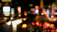 Stock Video Footage of Defocus City LIghts