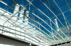 Industrial glass roof Stock Photos