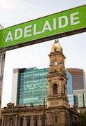 adelaide, australia - stock photo