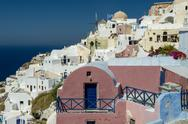 Stock Photo of aegean island santorini