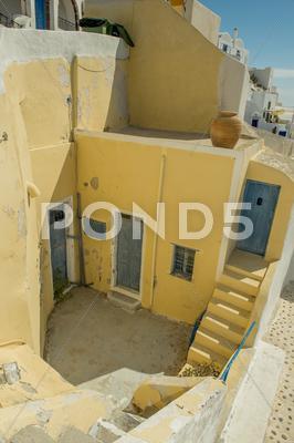 Stock photo of oia architecture