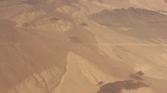 Flying over Sinai desert Stock Footage