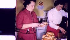 Home Cooking! Party Women in the Kitchen 1950s Vintage Film Home Movie 5466 - stock footage