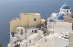 aegean island santorini - stock photo