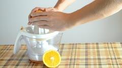 Invigorating fresh orange juice Stock Footage