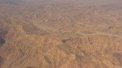 Flying over the Edomites to Eilat Stock Footage