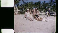 FRIENDS BEACH VACATION 1960 (Vintage Old Film Home Movie Footage) 5470 Stock Footage