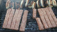 Romanian grilled specialties Stock Footage