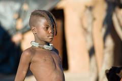 himba boy portrait - stock photo