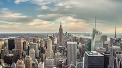 Empire State Building Manhattan New York City Day to Night NYC USA Timelapse 4K Stock Footage