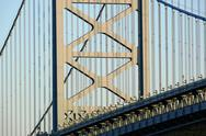 Stock Photo of ben franklin bridge detail