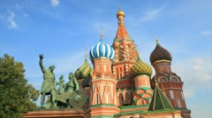 Saint Basil's Cathedral timelapse Stock Footage
