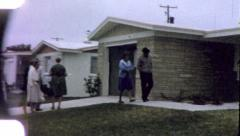 REAL ESTATE Suburban Tract Homes 1960s (Vintage Film Retro Home Movie) 5480 - stock footage