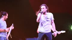 Korhan Ozyildiz onstage Stock Footage