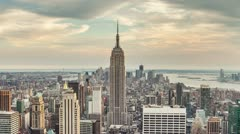 Manhattan New York City Day to Night Empire State Building USA Beautiful - stock footage
