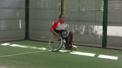 WheelChair Paddle 1 - stock footage