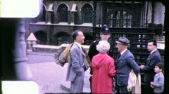 POLICEMAN Buckingham Palace LONDON Street 1960s Vintage Film Home Movie 5495 - stock footage