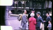 Stock Video Footage of POLICEMAN Buckingham Palace LONDON Street 1960s Vintage Film Home Movie 5495