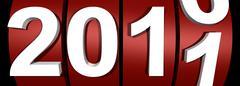 Stock Illustration of year 2011