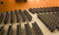 chairs of an auditorium - stock photo