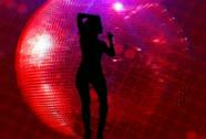 Disco Ball Sexy Dancer Stock Footage