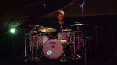 Drum player Yasar Kadir Bas performing Stock Footage