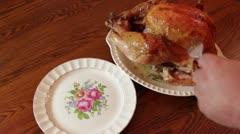 Holiday Turkey Dinner - stock footage