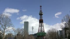 Sapporo TV Tower (timelapse) Stock Footage