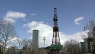 Stock Video Footage of Sapporo TV Tower (timelapse)
