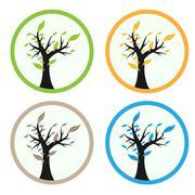 Green tree root Stock Illustration