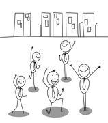 Success team Stock Illustration