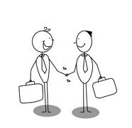 Shake a hand business Stock Illustration