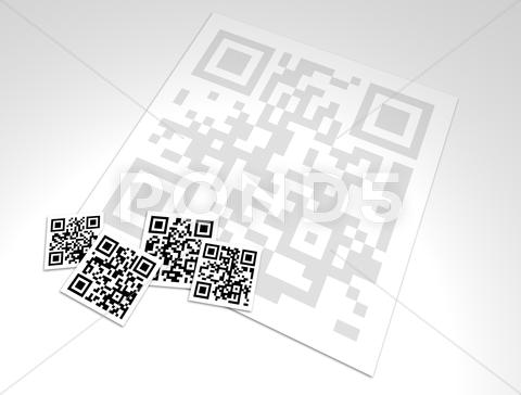 Stock photo of Collage Group of QR code Blocks